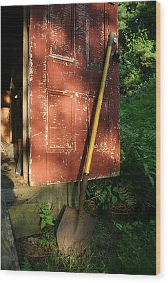 Morning Light On The Door Of An Old Wood Print by Stephen St. John