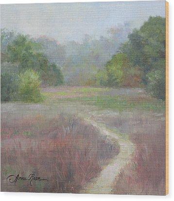 Morning Mist Wood Print by Anna Rose Bain