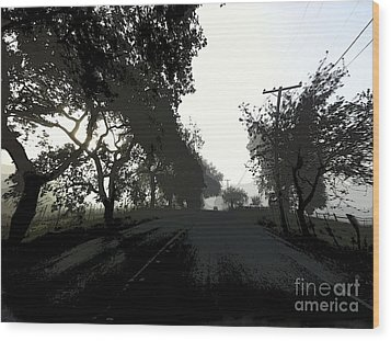 Wood Print featuring the photograph Morning Mist by Leslie Hunziker