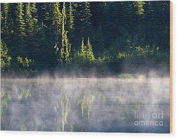 Morning Mist Wood Print by Mike  Dawson