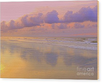 Morning On The Beach  Wood Print by Lydia Holly