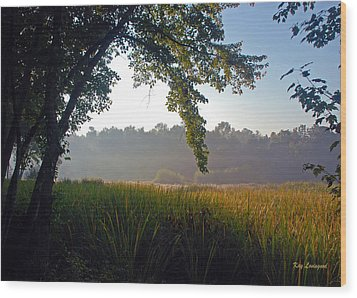 Morning On The River Wood Print by Kay Lovingood