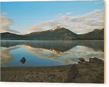 Morning Reflections Wood Print by Bob Berwyn