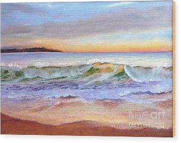 Morning Serenity-phillip Island Wood Print by Nadine Kelly