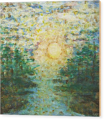 Morning Sun Wood Print by Andria Alex