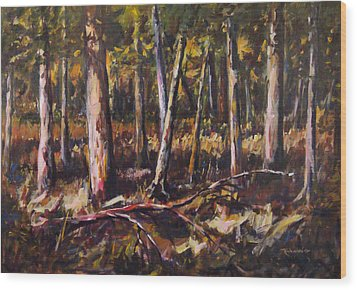 Wood Print featuring the painting Morning Sun by George Richardson