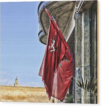 Morocco Flag I Wood Print by Chuck Kuhn