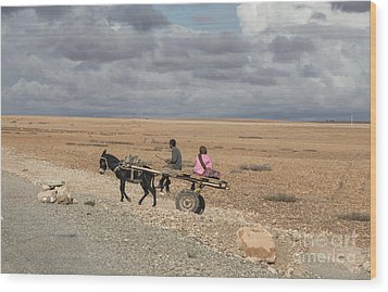 Morocco Transportation Wood Print by Chuck Kuhn