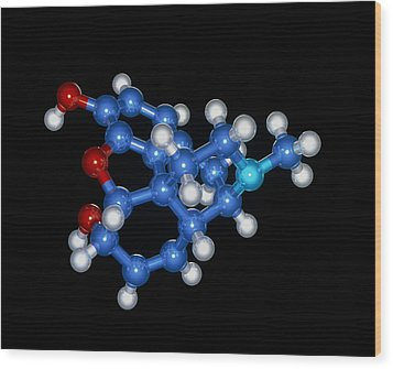 Morphine Drug Molecule Wood Print by Laguna Design