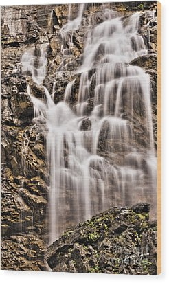 Wood Print featuring the photograph Morrell Falls 1 by Janie Johnson