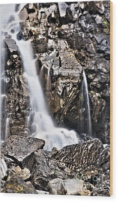 Wood Print featuring the photograph Morrell Falls 2 by Janie Johnson