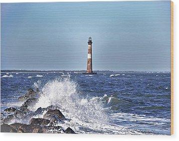 Morris  Island Lighthouse Wood Print