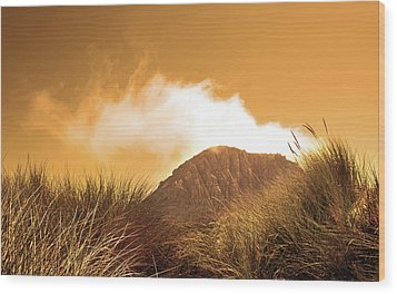 Wood Print featuring the photograph Morro Rock by Michael Rock