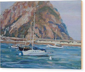 Morro Rock Wood Print by Richard  Willson