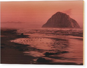Morro Sunset Wood Print by Matt  Trimble