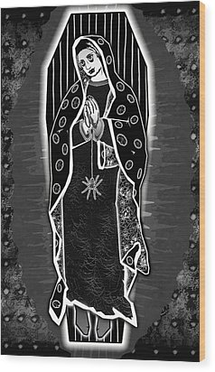Morticia Guadalupe' Wood Print by Travis Burns