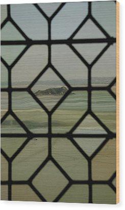 Mosaic Island Wood Print