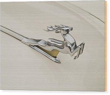 Moscvich Logos Wood Print by Odon Czintos