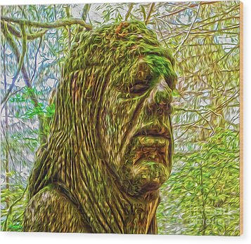 Moss Man Wood Print by Gregory Dyer