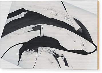 Mother And Baby Dolphins  Wood Print