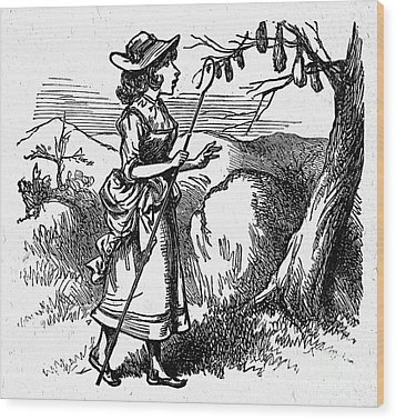 Mother Goose: Bo-peep Wood Print by Granger