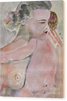Motherhood   Wood Print by Ginette Callaway