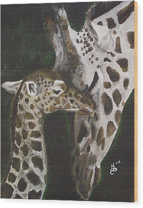 Motherly Love Wood Print by Kim Selig