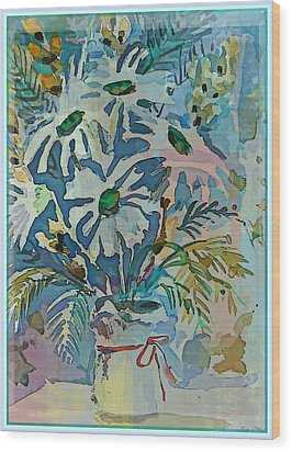 Mothers Daise Wood Print by Mindy Newman