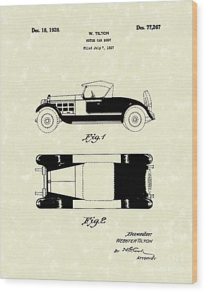 Motor Car Tilton 1928 Patent Art Wood Print by Prior Art Design