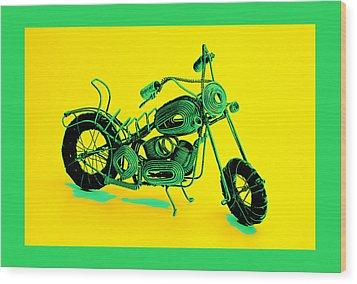 Motorbike 1b Wood Print by Mauro Celotti