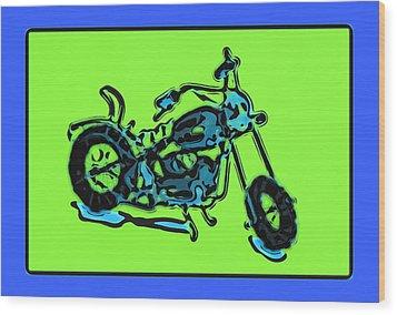 Motorbike 1c Wood Print by Mauro Celotti