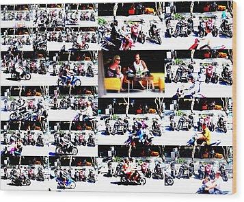 Motorbike Watching On Ubud Streets   Wood Print by Funkpix Photo Hunter