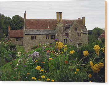 Wood Print featuring the photograph Mottiston Manor by Carla Parris