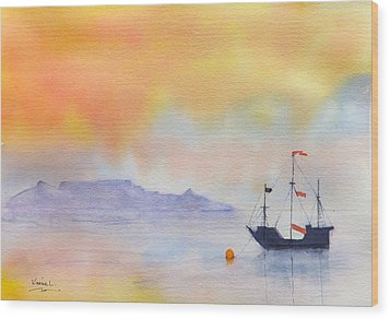 Mouille Point Mooring Cape Town Wood Print by Harold Kimmel