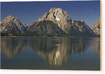 Wood Print featuring the photograph Moujnt Moran 5 by Marty Koch