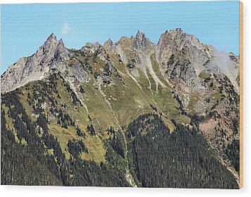 Mount Baker National Forest Wood Print