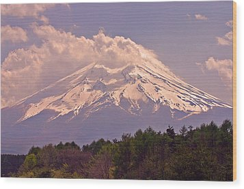 Mount Fuji Wood Print by David Rucker