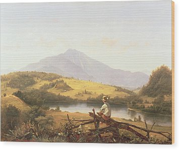 Mount Mansfield Wood Print by Jerome Thompson