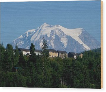 Mount Rainier 3 Wood Print by Kathy Long