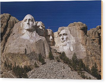 Wood Print featuring the photograph Mount Rushmore National Monument by Paul Svensen