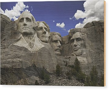 Wood Print featuring the photograph Mount Rushmore  by Paul Plaine