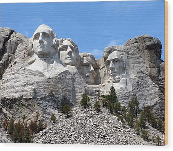 Mount Rushmore Usa Wood Print by Olivier Le Queinec