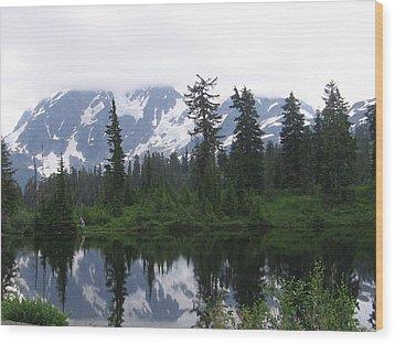 Wood Print featuring the photograph Mount Shuksan by Karen Molenaar Terrell
