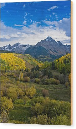 Mount Sneffels Under Autumn Sky Wood Print