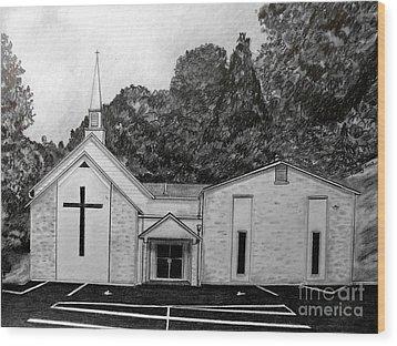 Mount Union Church Of The Brethren Wood Print by Julie Brugh Riffey