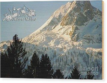 Mountain Christmas 2 Austria Europe Wood Print by Sabine Jacobs