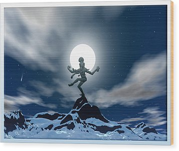 Mountain Deity Wood Print by Harald Dastis