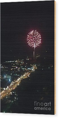 Wood Print featuring the photograph Mountain Fireworks by Janice Spivey