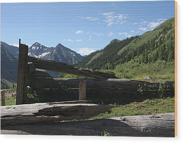 Mountain Ghost Town Wood Print