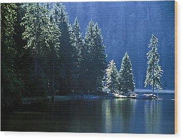 Mountain Lake In Arbersee, Germany Wood Print by John Doornkamp